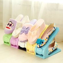 1 pair Double-dimensional three-dimensional parent-child shoe rack new sale fashion shoe rack plastic select shelf to shoes