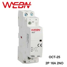 OCT Series AC Household Contactor 230V 50/60Hz 2P 16A 2NO Two Normal Open Contact Din Rail
