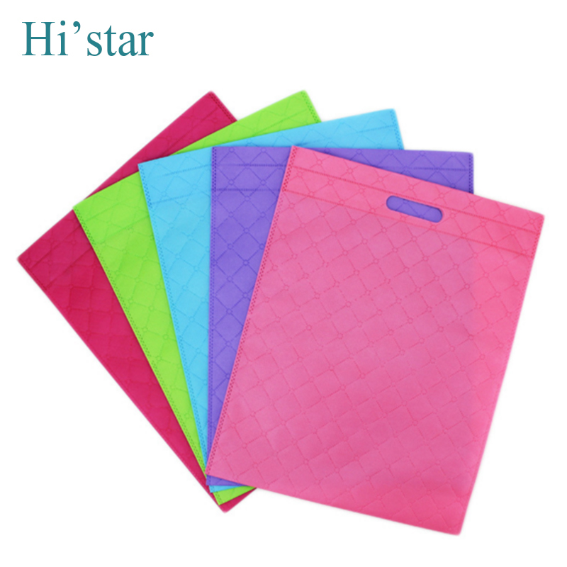 20 pieces Promotion Sale!!! Non Woven Shopping Bag Eco-friendly Resuable Handbag Advertising Gift Bag Candy Color Grocery Bags