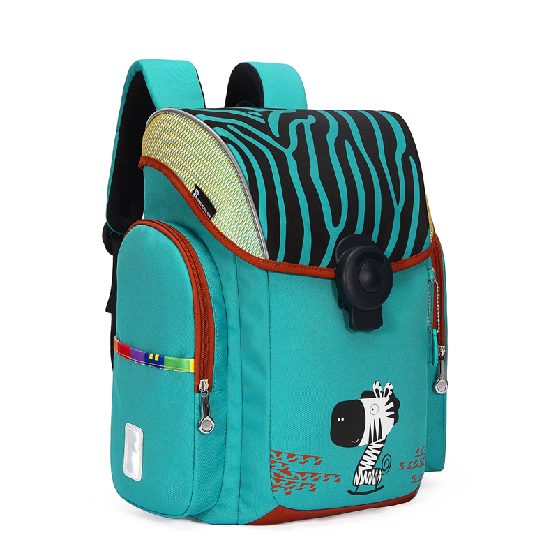 2019 Children Orthopedic School Bag For Girls and boys Cartoon Animal Pattern Backpacks With Magnetic buckle