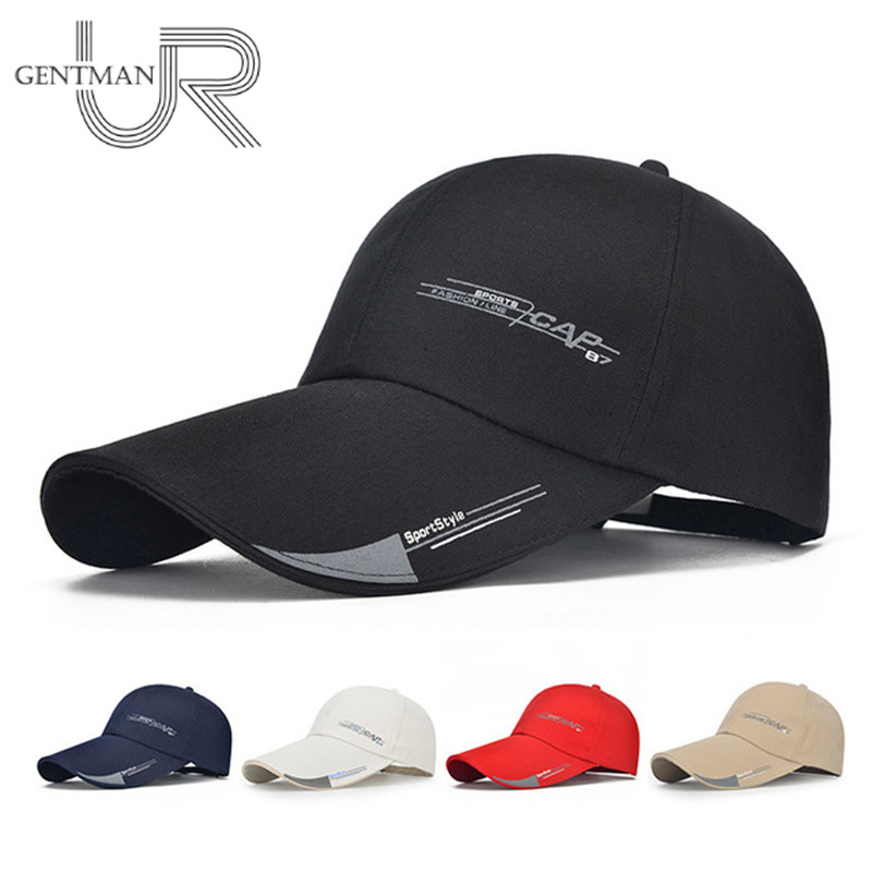 Long Brim Shade Cap Mens Sports Snapback Hat Cap For Fishing Outdoor Fashion Baseball Cap Sun Dad Hat Bone Gorras Cheap Cap new 5 panel snapback cap men sports bone baseball cap for female pu brim touca strapback gorras hat casquette adjustable w402