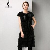 Fashion Leather fur vest Young city white collar fur coats for women Good value mink coat fur Classic coat women