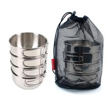 Buy Outdoor Camping HobbyLane 4 Piece Set 500 Ml 304 Stainless Steel Basin Leak-proof Basin Eco-friendly Home Combination Tableware directly from merchant!