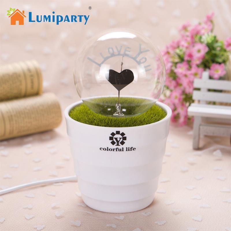 LumiParty Fireworks Potting Flower Shape Love LED Night Light Bulb Romantic Gift for Lovers Home Desk Decoration jk30