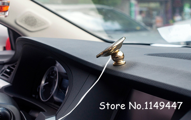 1pc Gold Nillkin Qi Wireless Charging Charger Pad Magnetic Phone Car Holder Stand for General car 9-16v/5w nillkin magic disk ii 5w wireless charger