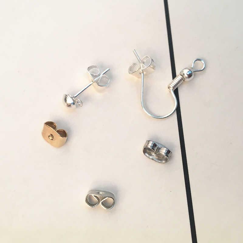 Nút tai Đồ Trang Sức Phần earplug bông tai Trở Lại cắm Cap phụ kiện bông tai Cắm Tự Làm bướm khóa Bị Chặn Stopper 2018