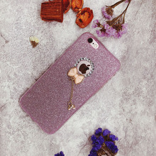 Case for iphone 6 Women Luxury Glitter Pink Bling Phone Coque 7 8 5 5S SE 6S PLUS Girly Capa Accessories