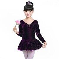 Children Ballet Dance Leotard One Piece Dress Ballet Dancer Kids Dancing Costumes Girls Long Sleeve Ballet