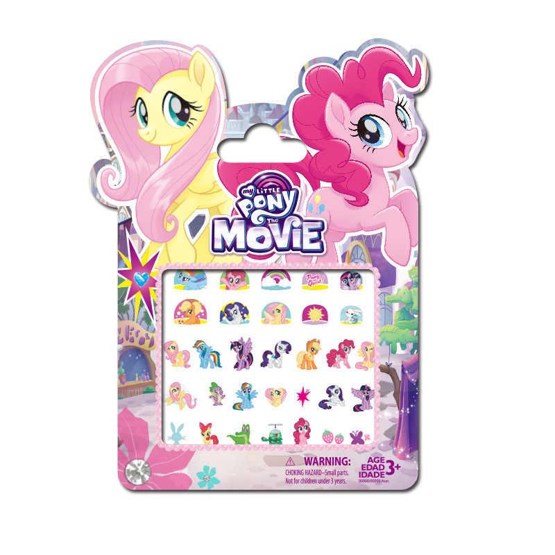 5 шт My Little Стикеры с изображением пони игрушки ПВХ наклейки с пони Pack Девушка Ногтей Стикеры s 3D Рэйнбоу Дэш Твайлайт Игрушки для девочек M12