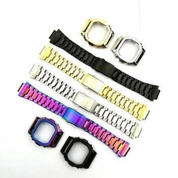 Ремешок для наручных часов из нержавеющей стали браслет подходит для часов серии DW5600 DW5610 GMWB5000 GW5600 оптовая продажа 2019