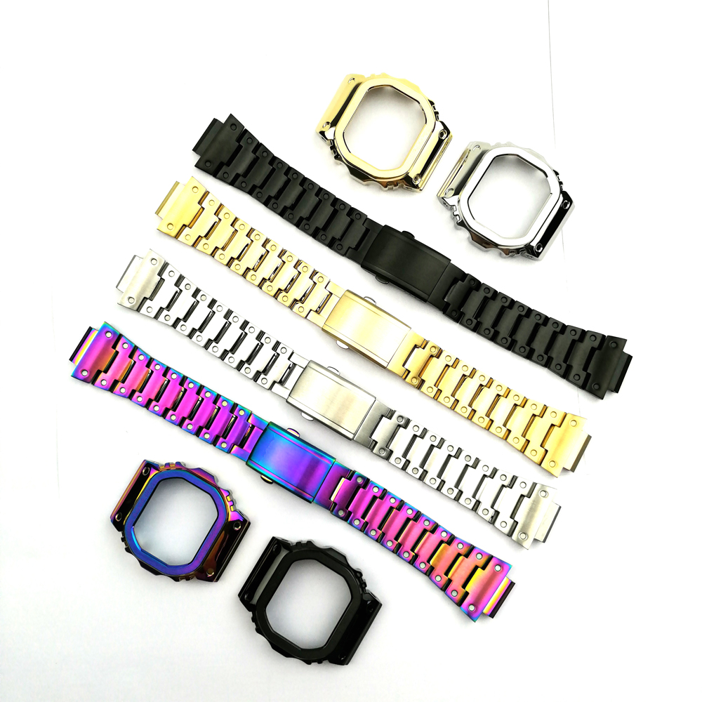 Stainless Steel Watch Bands Watch Strap Watchbands Bracelet Fit For Watch DW5600 DW5610 GMWB5000 GW5600 Series Wholesale 2019