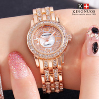 New Luxury Ladies Bangle Watch Fashion Brand Rose gold Women Rhinestone Watches Dress Quartz Crystal Women's Wrist Clock Watches Women Quartz Watches