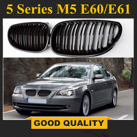 1 Pair Gloss Black Car Front Sport Grill Kidney Grilles Grill For BMW 5 Series M5 E60/E61 2004 2005 2006 2007 2008 2009
