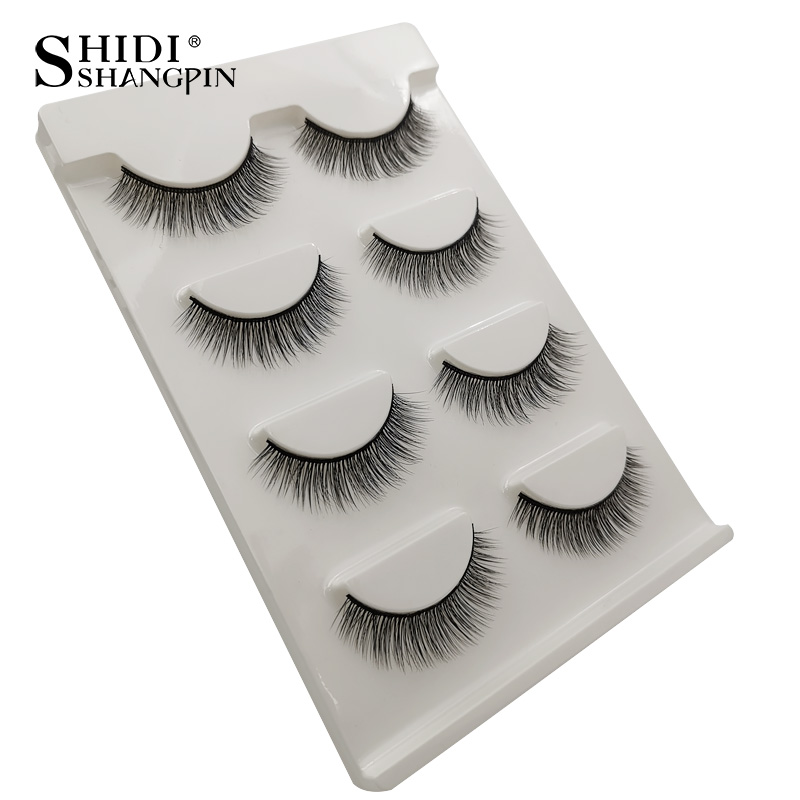 HTB1sjMuaIfrK1Rjy1Xdq6yemFXaF Natrual long 3D Mink False Eyelashes wholesale 4 pairs Fluffy Make up Full Strip Lashes 3D Mink Lashes faux cils Soft Maquiagem
