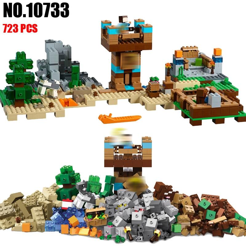 BELA 10733 the Crafting Box 2.0 Building Blocks Sets Bricks My worlds Movie Model Kids Toys For Children Compatible 21135