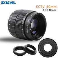 Lente de película de TV CCTV F1.4 de 50mm, montaje en C, Macro anillo para Canon EOS M M2 M3 M5 M6 M10, cámara sin espejo