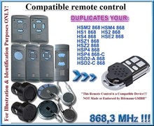 HORMANN Remote Control Duplicator  HS1 HSE1 HS2 HSE2 HS4 868mhz - Blue Buttons only