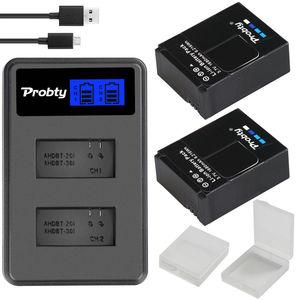 Image 2 - Oryginalna probty dla GoPro hero 3 hero 3 + hero 3 hero 3 + bateria + podwójna ładowarka LCD dla go pro AHDBT 301 akcesoria do kamery