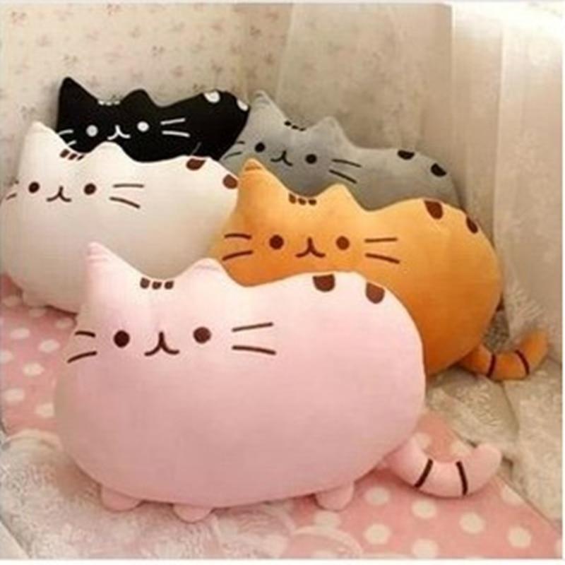 Dibujos animados suave lindo gato forma cojín 40 * 30 cm 4 pc / set - Peluches y felpa