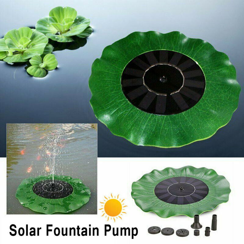 Mini Solar Water Fountain Garden Pool Pond Outdoor Floating Fountain Lotus Form