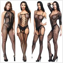 Sexy lingerie Teddies Bodysuits hot Erotic lingerie open crotch elasticity mesh body stockings hot porn sexy underwear costumes cheap GOYHOZMI CN(Origin) Polyester Spandex Body Suit dobby WOMEN d5gf13 Print