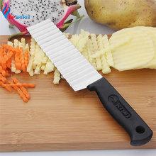 Upspirit нержавеющая сталь волнистые фри резак картофель фри резка терка для фруктов и овощей слайсер Crinkle измельчитель кухонные инструменты