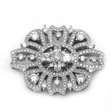 Envío libre multi-fila forma de la flor collar de perlas de plata de ley 925 de circón micro pave joyería conectores de enlace sljq-cz002