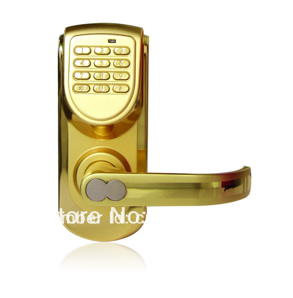 New Arrival Smart Digital Single Latch Electronic Keyless Lock Gold Keypad Door With 2 Years Warranty In Electric From Security Protection On