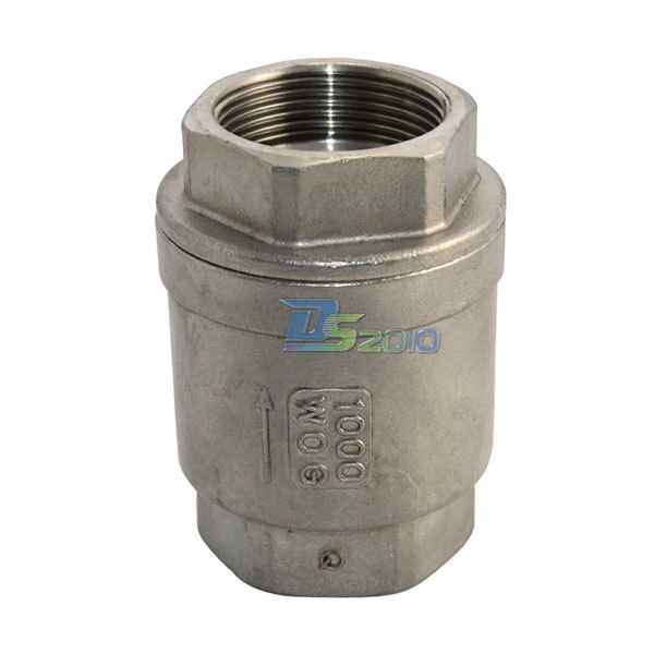 MEGAIRON BSPT 1-1/2 DN40 Stainless Steel SS316 Check Valve 1000 WOG Thread In-Line Spring Vertical Control Tool vertical type 1 2 pt female threaded brass tone in line check valve