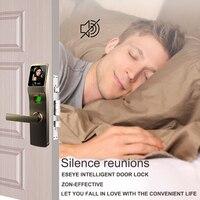 Eseye Smart дверные ручки замок цифровой электрический дверной замок отпечатков пальцев электронные замки для дома Anti theft Сенсорный экран Keyless