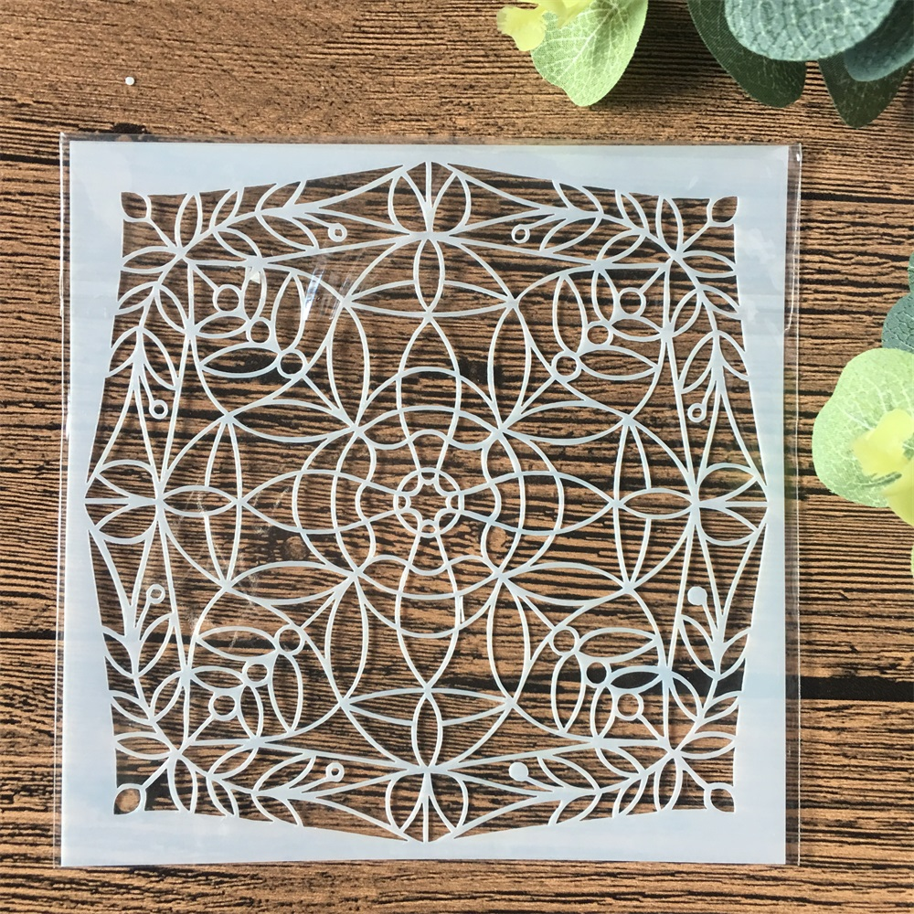 13cm Geometry Circle DIY Craft Layering Stencils Wall Painting Scrapbooking Stamping Embossing Album Card Template