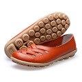 Mulheres Sandálias de Verão Sapatos de Couro Genuíno 2016 Nova Moda Oco Out Casual Apartamentos Sapatos sandálias Mulher mulheres ac50