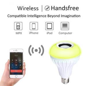 Image 3 - DZLST Bluetooth Speaker Smart LED Bulb E27 RGB Light 12W Music Playing Dimmable Wireless Led Lamp with 24 Keys Remote Control