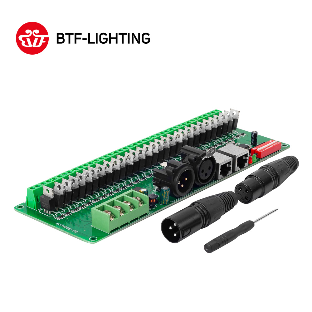 Wholesale 30 Channel Dmx 512 Rgb Led Strip Controller Decoder 3528 5050 Light Strips Cable Wire Ws2801 Lpd8806 Dimmer Driver Dc9v 24v In Controlers From Lights Lighting On
