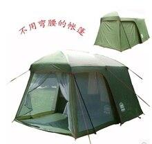 Ultralarge de alta calidad, una sala de un dormitorio 5-8 persona tienda de campaña impermeable de doble capa de 200 cm de altura en precio de la promoción grande