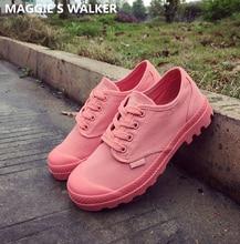 Nueva Llegada de La Manera Zapatos Casuales Atan Los Zapatos de Lona Casuales Zapatos de Plataforma con cordones de Martin Shoes Tamaño 35 ~ 39