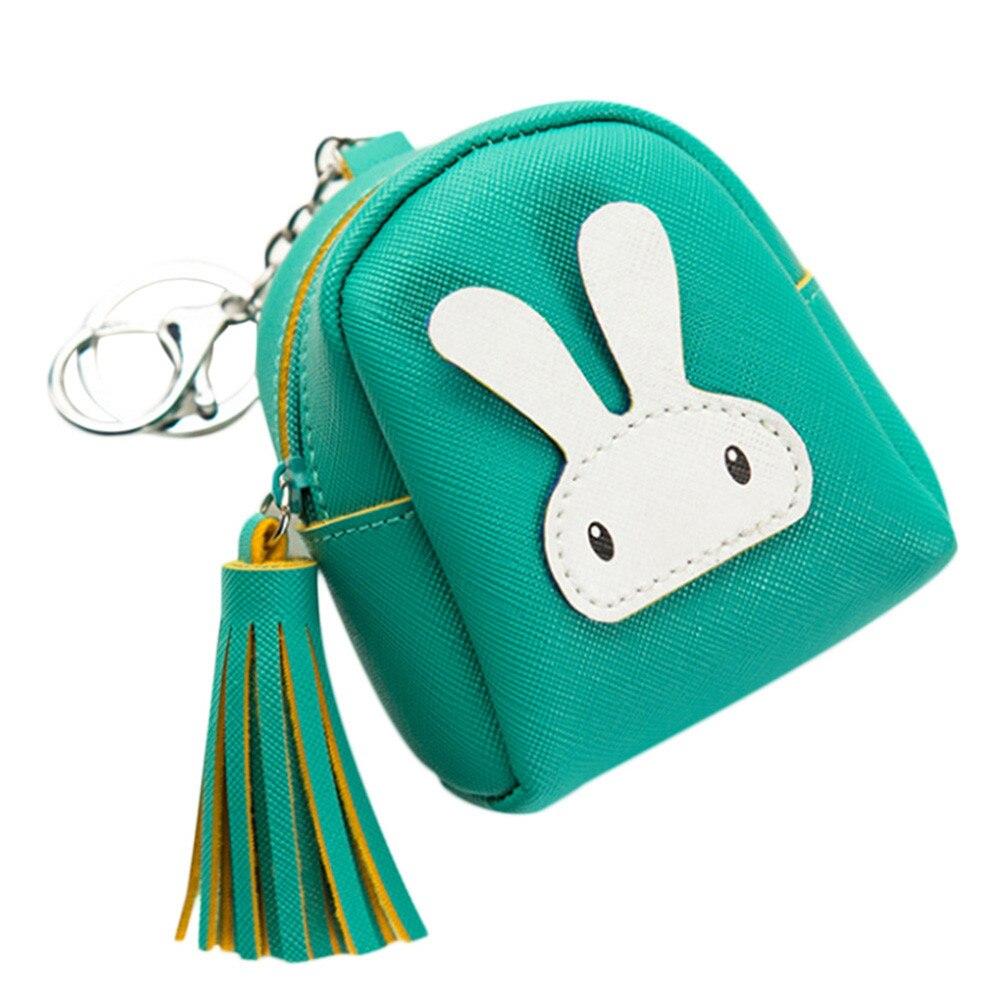 Coin Purse Women Girls Wallet Cute Rabbit Pattern Bag Change Money Pouch Key Card Holder Carteira Feminina