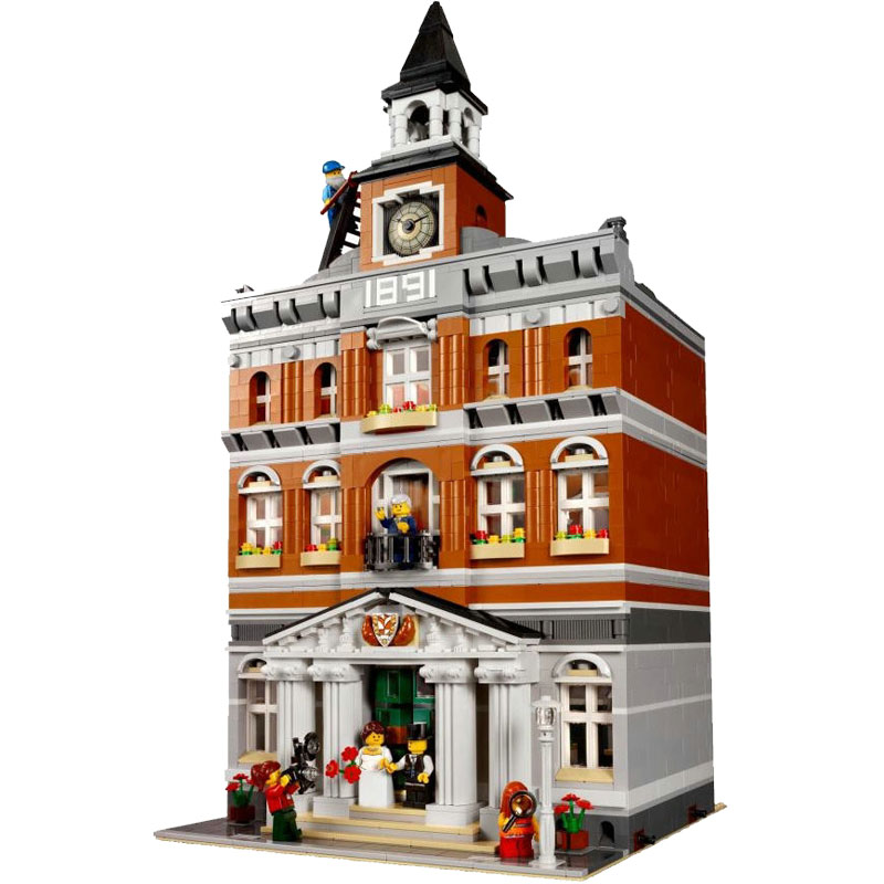 Custom Creator Town Hall 10251 UA Set Building Block Brick Free Fast Shipping
