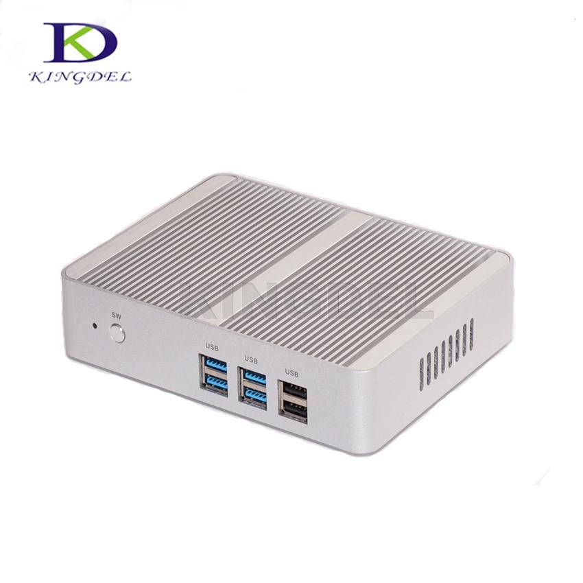 Fanless Mini PC Windows 10 Linux Barebone Computer Intel N3150/N3050 Max 2.08GHz/2.16GHz VGA HDMI Nuc TV Box HTPC