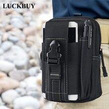 e40e21681b45c LUCKBUY Evrensel Açık Taktik Kılıf Askeri Molle Kalça bel kemeri Çanta  Cüzdan Kılıfı Çanta telefon kılıfı