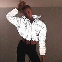 IAMGIA серебро стеганая куртка 3 м блеск ткани Hersilla куртка 2018 осень зима куртка женские пальто парки mujer клуб уличная