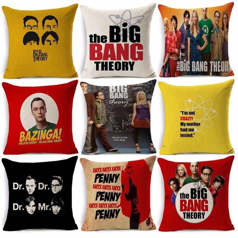 Logo Circle Oval Plush Pillow Red Comedy TV Show Series Big Bang Theory Bazinga