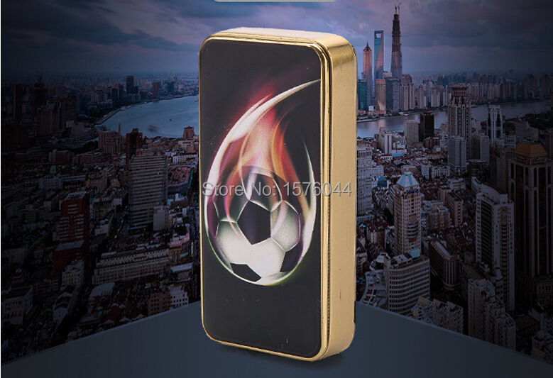 E4077 Wholesale and retail new cool football font b electronic b font cigar lighter machine metal