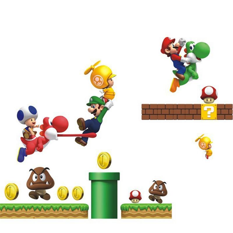 HTB1sjPaLFXXXXbxXFXXq6xXFXXX3 - Cartoon Super Mario Bros Wall sticker For Kids Room