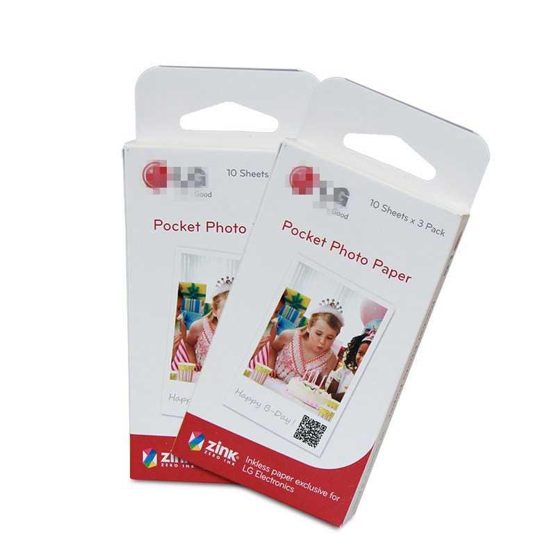 60 листов фотобумага Zink PS2203 умный мобильный принтер для LG фотопринтер PD221/PD251 PD233 PD239 бумага для принтера