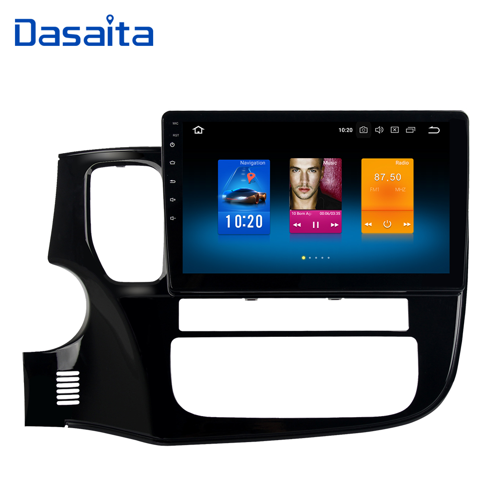 Dasaita 10 2 Android 9 0 Car GPS Radio Player for Mitsubishi Outlander 2014 2017 with