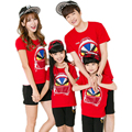 matching family clothes 2016 summer cartoon printed family matching clothes top t shirt + shorts family matching clothes sets