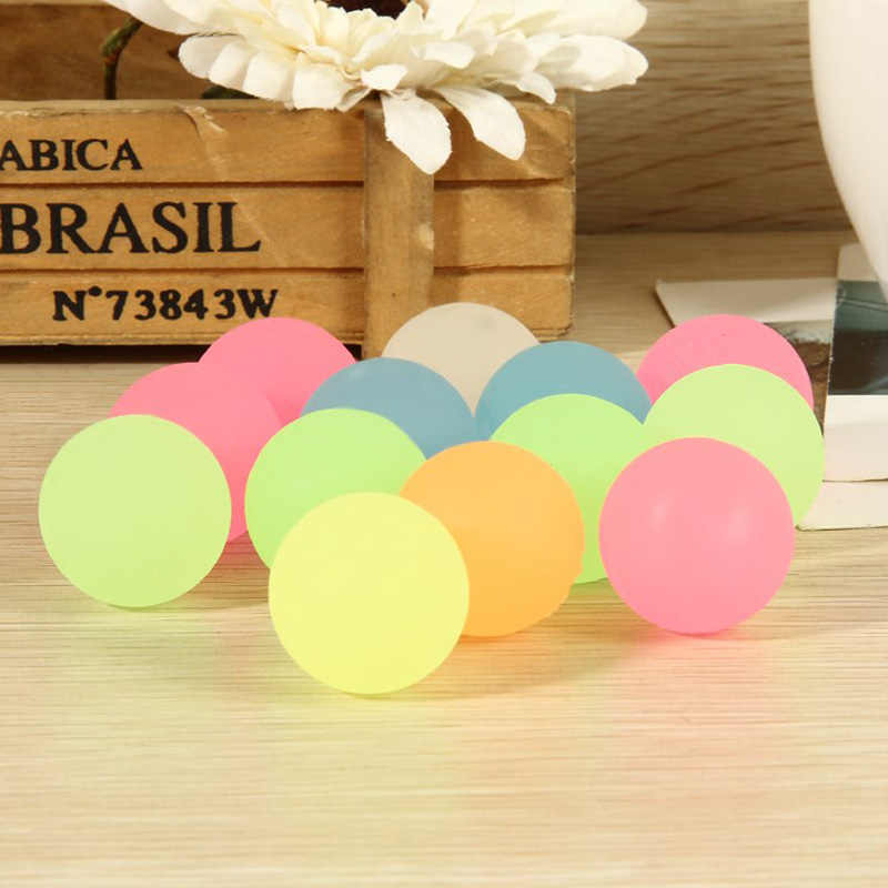 10 Pcs Salto Alto Luminosa Bola de Borracha Pequena Bola de borracha Enchimentos Pinata Toy Kids Party Favor Bag Glow In The escuro
