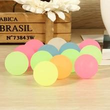10Pcs High Bounce Rubber Ball Luminous Small Bouncy Ball Pin