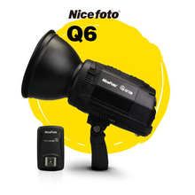 NiceFoto HS Q6C 600W  HSS 1/8000S Studio Flash Outdoor High Speed Speedlite with Transmitter for Canon Camera